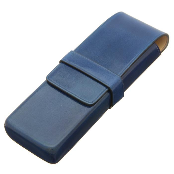 【送料無料】 IL Bussetto イル・ブセット ペンケース 2本用 ブルー 【正規品】