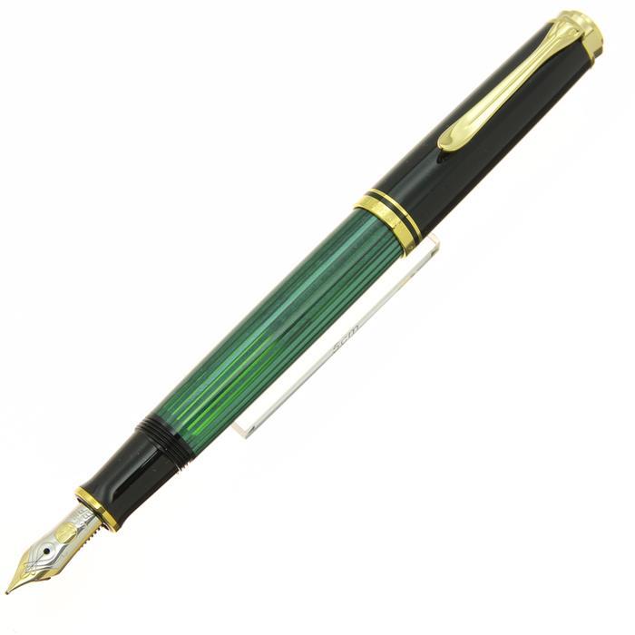 【中古】【美品】Pelikan ペリカン 万年筆 スーベレーン M400 緑縞 EF 【[SAS]対象】【ポイント5倍!】