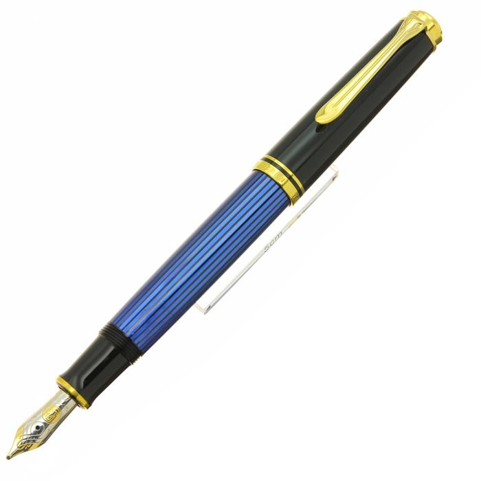 【中古】【良品】Pelikan ペリカン 万年筆 スーベレーン M600 ブルー縞 B 【[SAS]対象】【ポイント5倍!】