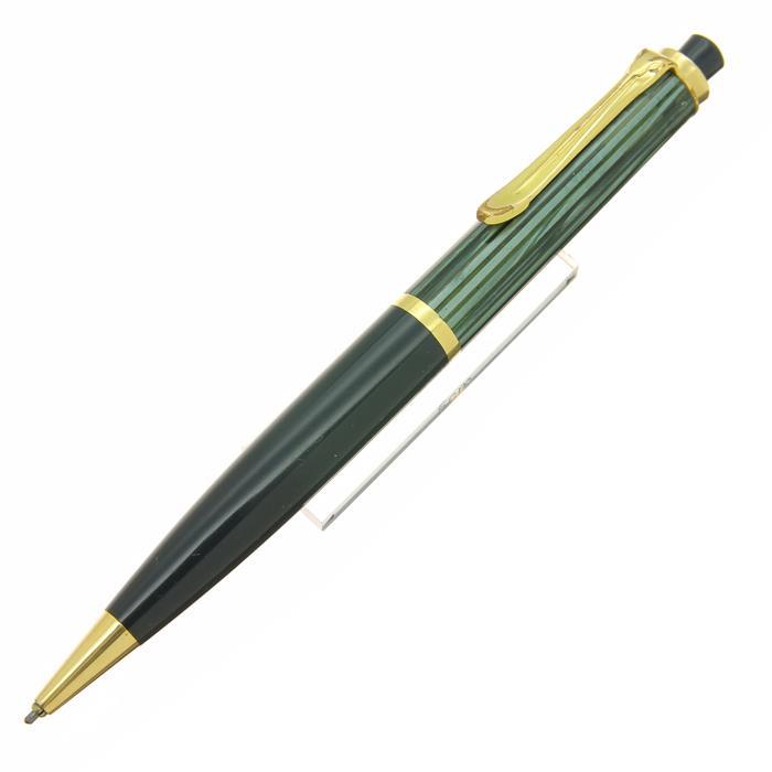 【中古】【良品】Pelikan ペリカン メカニカルペンシル #450 緑縞/グリーン 1.18mm 【[SAS]対象】【ポイント5倍!】