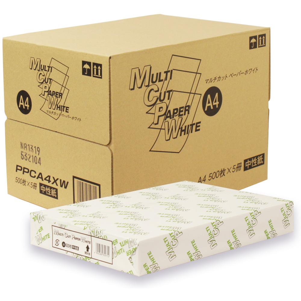 12時までのご注文で翌日出荷コピー用紙 PPC用紙 ラッピング無料 ハイクオリティ 普通紙 OA用紙 オフィス用品 プリンタ用紙 A4サイズ用紙 A4 国産 高白色 白色 インクジェット コピー 500枚 64g 500枚×5冊 2 マルチカットペーパー 送料無料 2500枚 白色度90% ホワイト m2 PPCA4XW コピー用紙 高白色PPC用紙