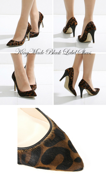 Natural leather used «big and small is size ( 22 cm-26 cm )» doesn't hurt / Leopard / high heels / almond / brown / leather / Leopard pattern / pumps ☆ レオパードシンプリー pumps
