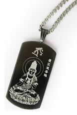 【送料無料】ブラック純チタンネックレス お守り本尊ネックレス プレゼントにおすすめお守りネックレス