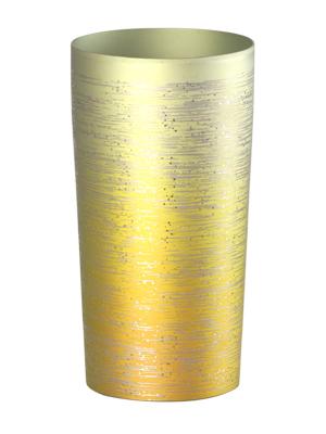 【送料無料】新潟 燕三条 [HORIE]ホリエ 純チタンタンブラー 敬老の日にオススメ純チタンコップ 純チタンカップは飲み物を美味しくまろやかに演出します。 チタン二重タンブラー 涼 大 350ml ゴールド