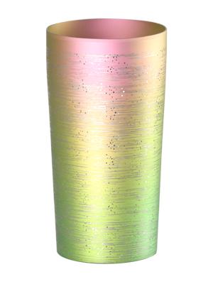 【送料無料】新潟 燕三条 [HORIE]ホリエ  純チタンタンブラー 敬老の日にオススメ純チタンコップ 純チタンカップは飲み物を美味しくまろやかに演出します。 チタン二重タンブラー 涼 大 350ml ピンク