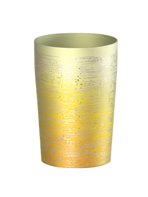 【送料無料】新潟 燕三条 [HORIE]ホリエ 純チタンタンブラー 敬老の日にオススメ純チタンコップ 純チタンカップは飲み物を美味しくまろやかに演出します。 チタン二重タンブラー 涼 270ml 小 ゴールド