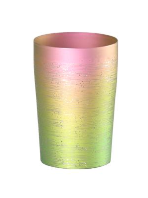 【送料無料】新潟 燕三条 [HORIE]ホリエ 純チタンタンブラー 敬老の日にオススメ純チタンコップ 純チタンカップは飲み物を美味しくまろやかに演出します。 チタン二重タンブラー 涼 270ml 小 ピンク