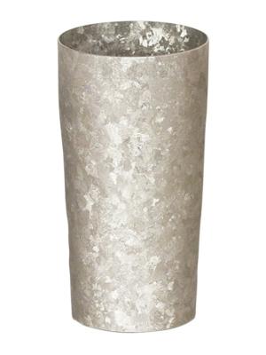 【送料無料】窯作り プレミアム シルバー 二重 純チタンタンブラー 敬老の日にオススメ純チタンコップ 泡立ちにこだわった純チタンカップを夏のビールのお供に