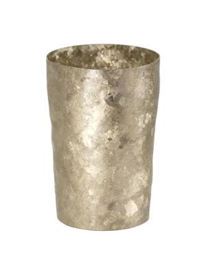 【送料無料】窯作り ライト ゴールド 二重 純チタンタンブラー  敬老の日にオススメ純チタンコップ 泡立ちにこだわった純チタンカップを夏のビールのお供に