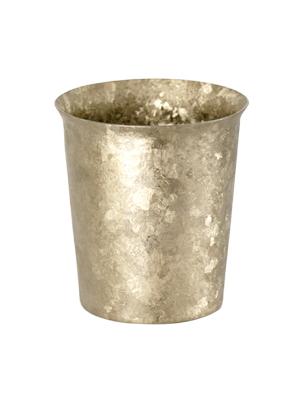 【送料無料】窯作り 広口ミニ ゴールド 二重 純チタンタンブラー 敬老の日にオススメ純チタンコップ 泡立ちにこだわった純チタンカップを夏のビールのお供に