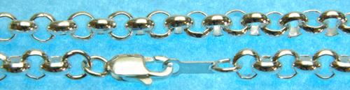 シルバー925チェーン ロール 線径1.8mm50cm
