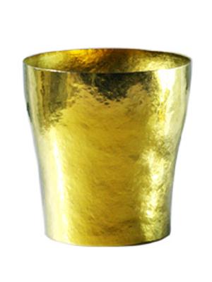 【送料無料】玲 二重 イエロー 黄金 250ml 純チタンタンブラー  敬老の日にオススメ純チタンコップ 泡立ちにこだわった純チタンカップを夏のビールのお供に