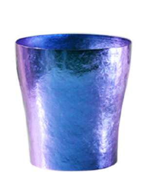 【送料無料】玲 二重 ブルー 青 群青 250ml 純チタンタンブラー  敬老の日にオススメ純チタンコップ 泡立ちにこだわった純チタンカップを夏のビールのお供に