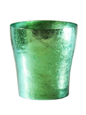 【送料無料】玲 二重 若竹 グリーン 緑 250ml 純チタンタンブラー  敬老の日にオススメ純チタンコップ 泡立ちにこだわった純チタンカップを夏のビールのお供に