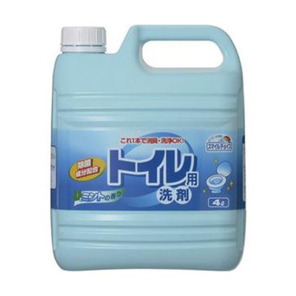 (まとめ)ミツエイ スマイルチョイス トイレ用洗剤業務用 4L 1セット(3本)【×3セット】