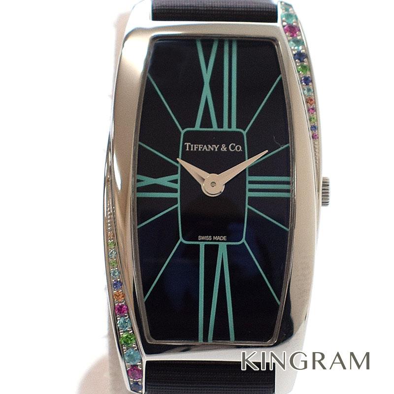 ティファニー TIFFANY ジェメア マルチストーン Z6401.10.10G19A40G レディース クオーツ腕時計 mo 【中古】