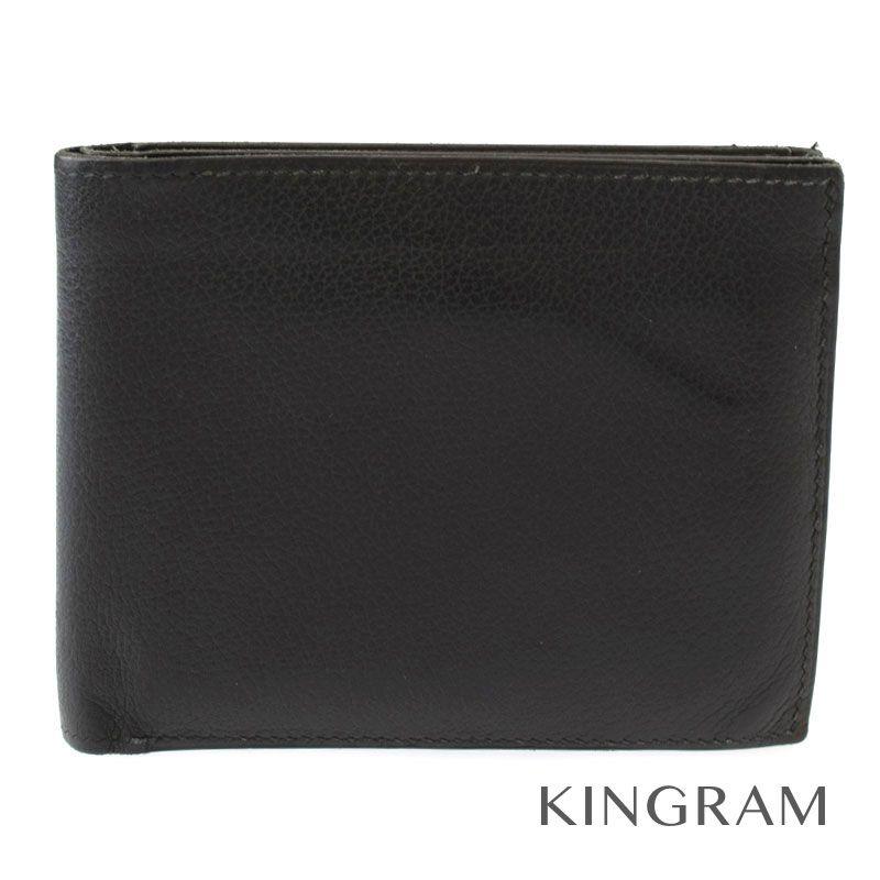 エルメス HERMES MC2二つ折り財布 メンズ ブラック ヴォーエプソン メンズ財布 hi 【中古】