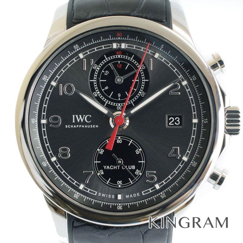 インターナショナルウォッチカンパニー IWC ポルトギーゼヨットクラブ フライバッククロノグラフ Ref.IW390503 ステンレス×ラバー メンズ 腕時計 omte【中古】