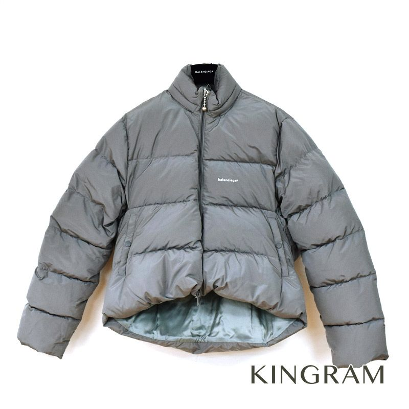 【最大3万円オフクーポン配布中!】バレンシアガ BALENCIAGA ダウンジャケット C Shape Puffer jacket 17AW グレー ポリエステル ダウンフェザー メンズ アウター rsn 【中古】