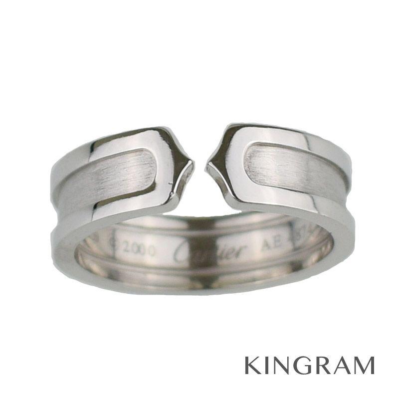 カルティエ Cartier C2リング 21.5号  K18WG(750) リング te【中古】