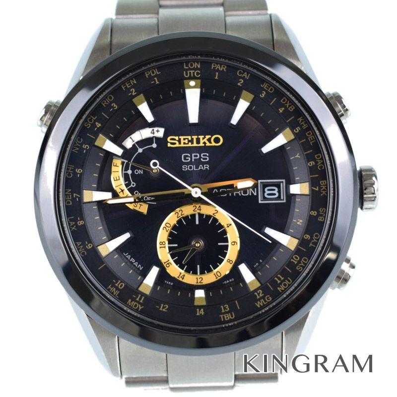 セイコー SEIKO アストロン Ref.7X52-0AA0 ソーラ電波時計 メンズ 腕時計 ko 【中古】