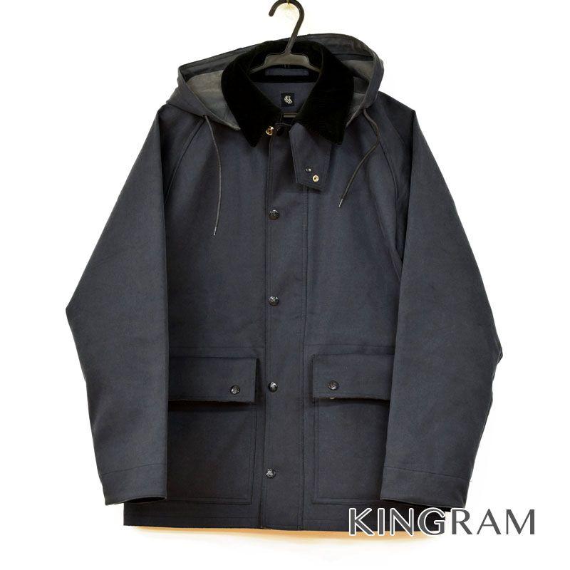 キャプテンサンシャイン KAPTAIN SUNSHINE Bonding Double Cloth Rain Jacket レインジャケット 36 ネイビー メンズ アウター rtk【中古】