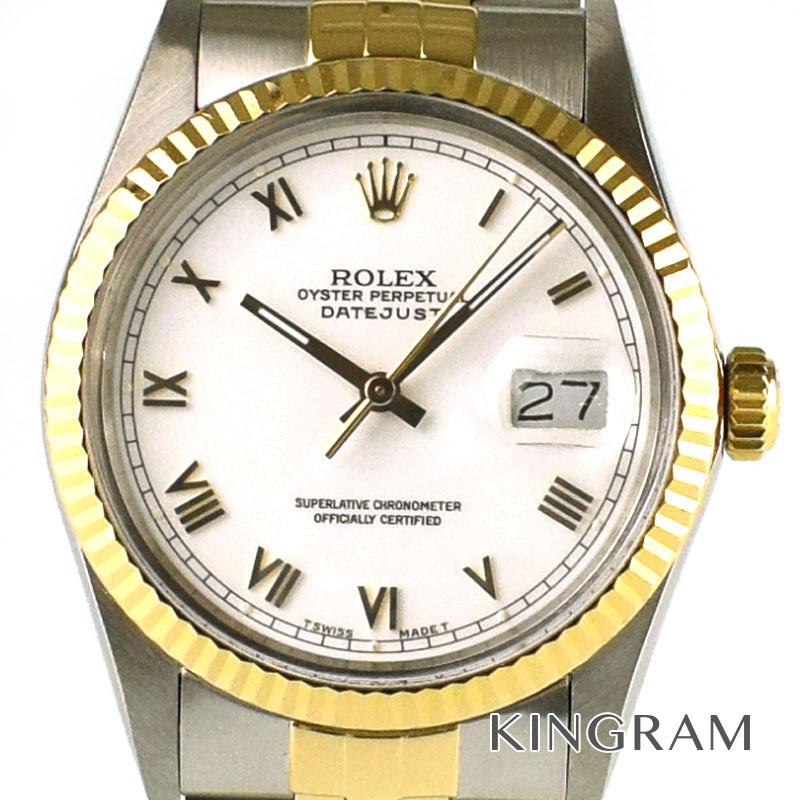 ロレックス ROLEX デイトジャスト Ref.16013 ホワイトローマン 自動巻き メンズ 腕時計 ta 【中古】
