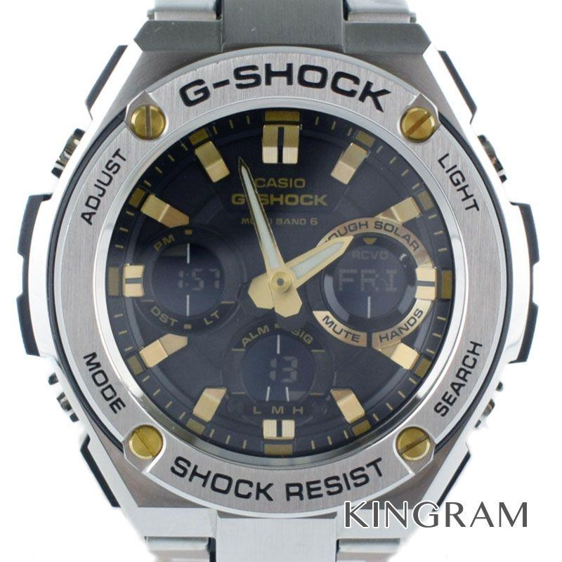 カシオ CASIO G-SHOCK Gスチール Ref.GST-W110D-1A9JF タフソーラー メンズ 腕時計 mo 【中古】
