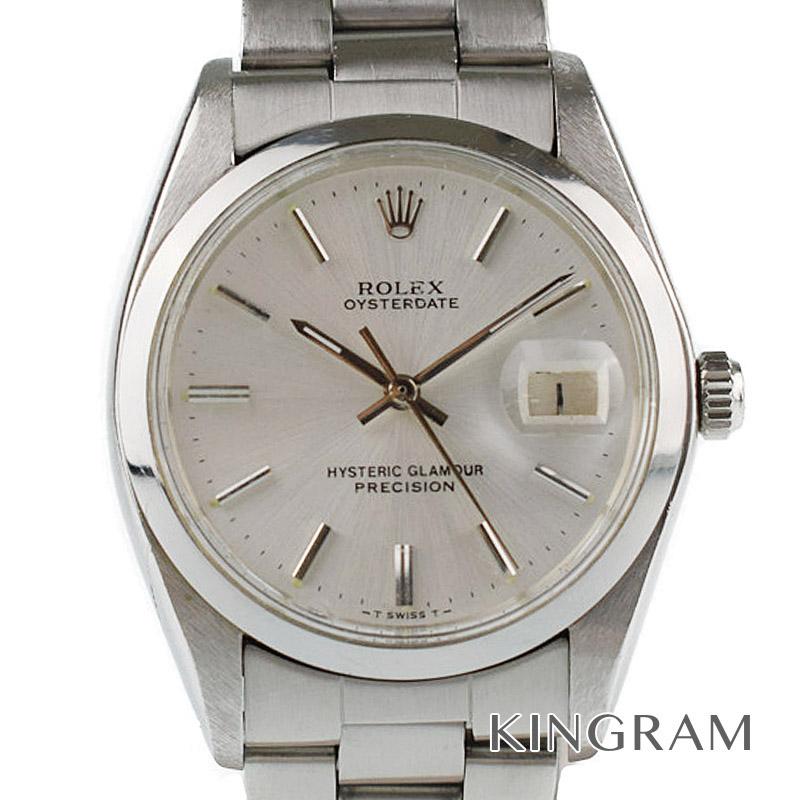 ロレックス ROLEX オイスターデイト ヒステリックグラマーWネーム Ref.6694 ヴィンテージ 手巻き メンズ 腕時計 ki 【中古】