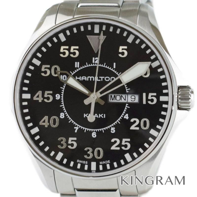 ハミルトン HAMILTON カーキ パイロット H646110 クォーツ メンズ腕時計 ny [中古]