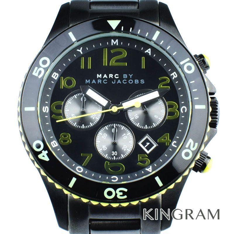 マークバイマークジェイコブス MARC BY MARC JACOBS Ref.MBM5026 クロノグラフ クォーツ メンズ 腕時計 du 【中古】