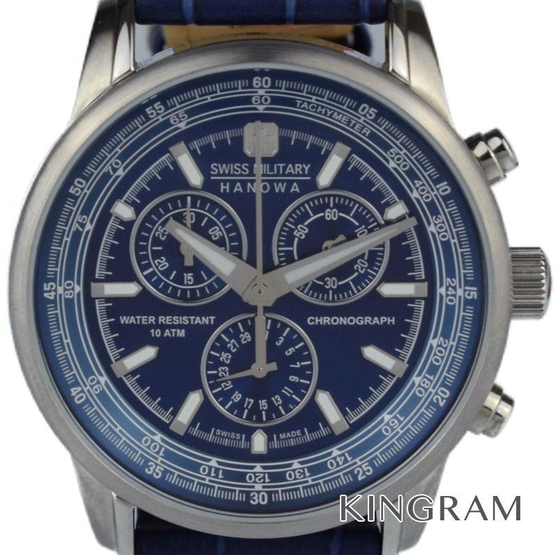 スイス ミリタリー SWISS MILITARY Ref.6-4220 クロノグラフ クォーツ メンズ 腕時計 du 【中古】