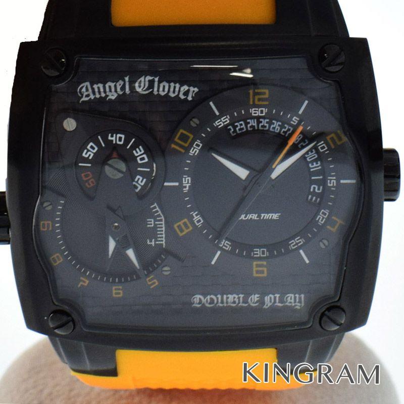 エンジェルクローバー Angel Clover ダブルプレイ Ref.DP44BB-OR ツインムーブメント クォーツ メンズ 腕時計 gi 【中古】