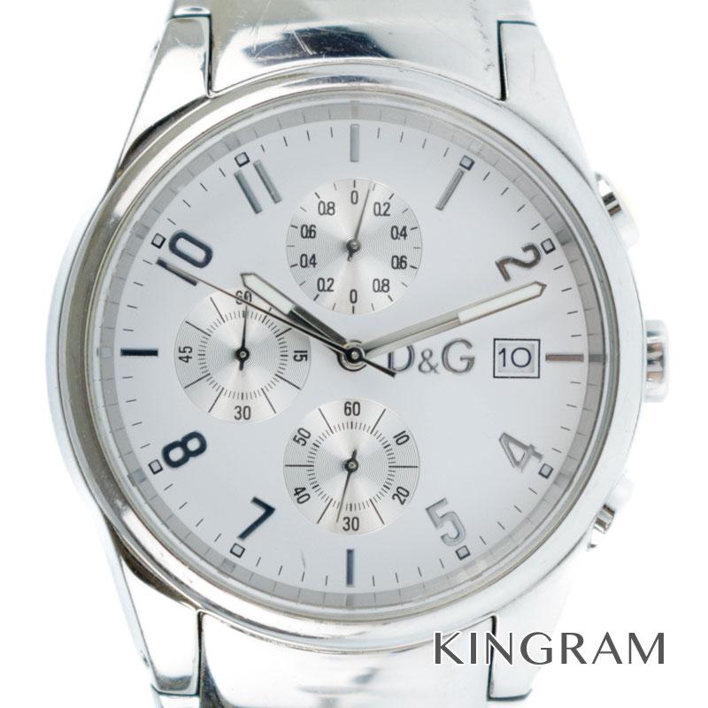 ディーアンドジー D&G サンドパイパー クロノグラフ クォーツ メンズ 腕時計 ko 【中古】