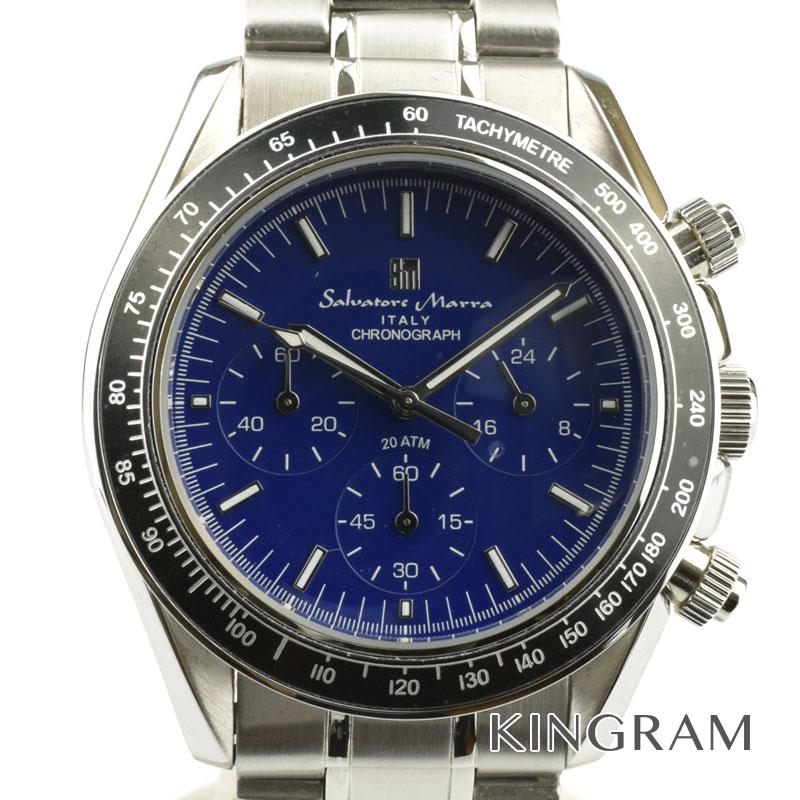 サルヴァトーレマーラ Salvatore Marra Ref.SM15111-SSBL クロノグラフ クォーツ メンズ 腕時計 ko 【中古】