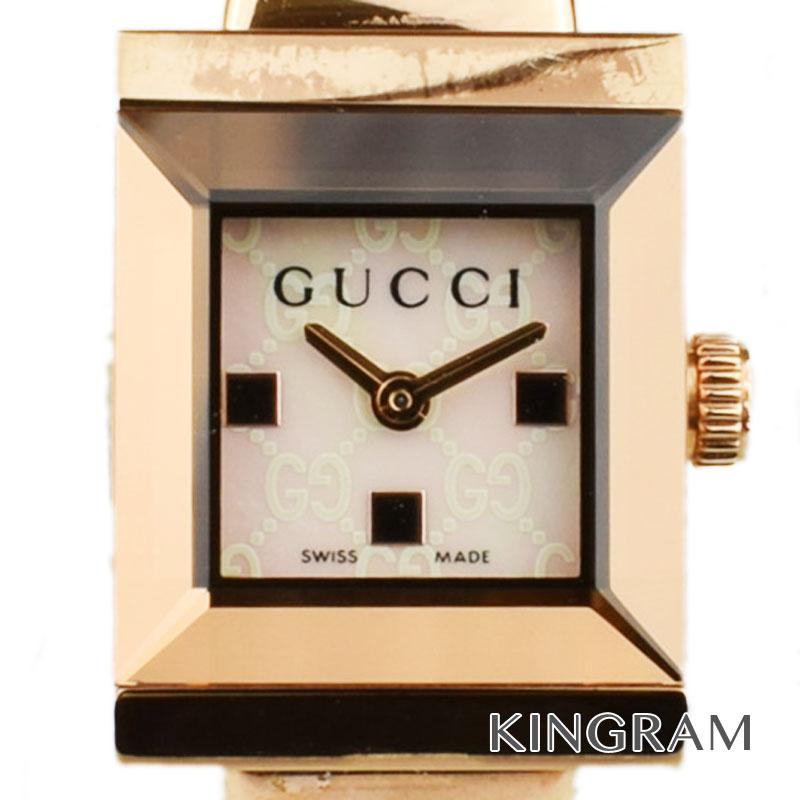 グッチ GUCCI Ref.YA128517 Gフレーム クォーツ レディース 腕時計 ko 【中古】