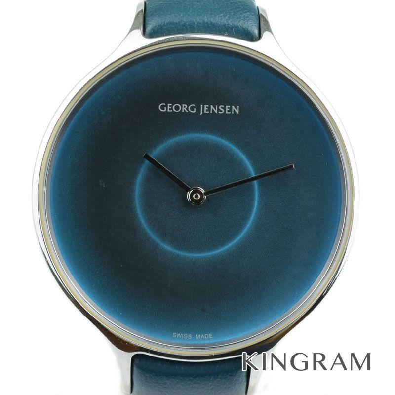 ジョージジェンセン GEORG JENSEN ラウンド Ref.316 クォーツ メンズ 腕時計 om 【中古】