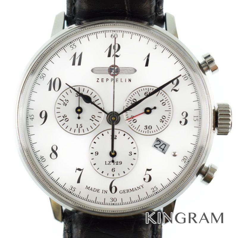 ツェッペリン ZEPPELIN Ref.7086 ヒンデンブルグ クロノグラフ クォーツ メンズ 腕時計 km【中古】
