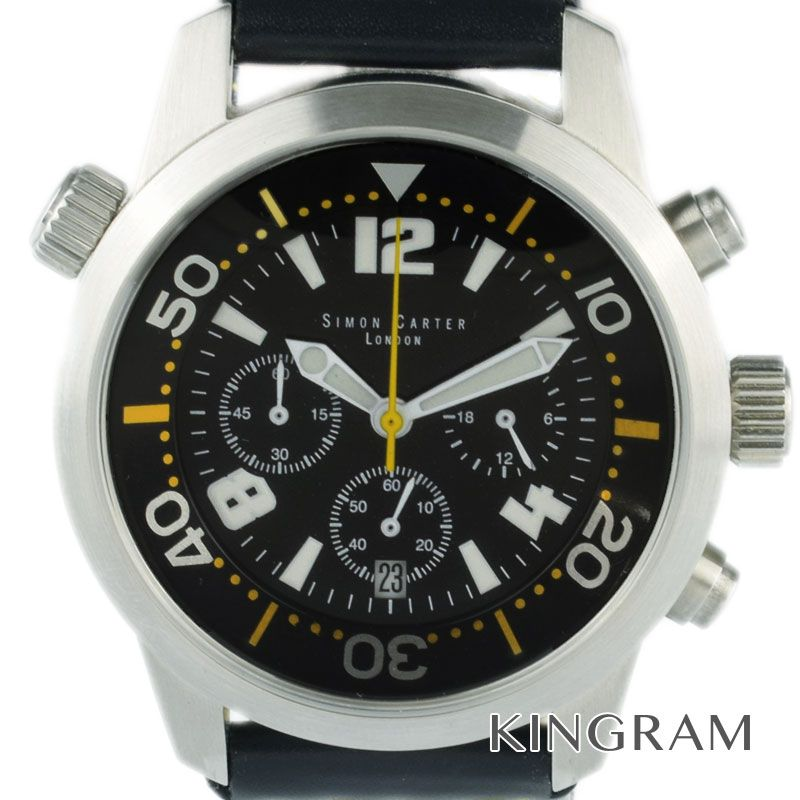 サイモンカーター SIMON CARTER クロノグラフ クォーツ メンズ 腕時計 iz【中古】