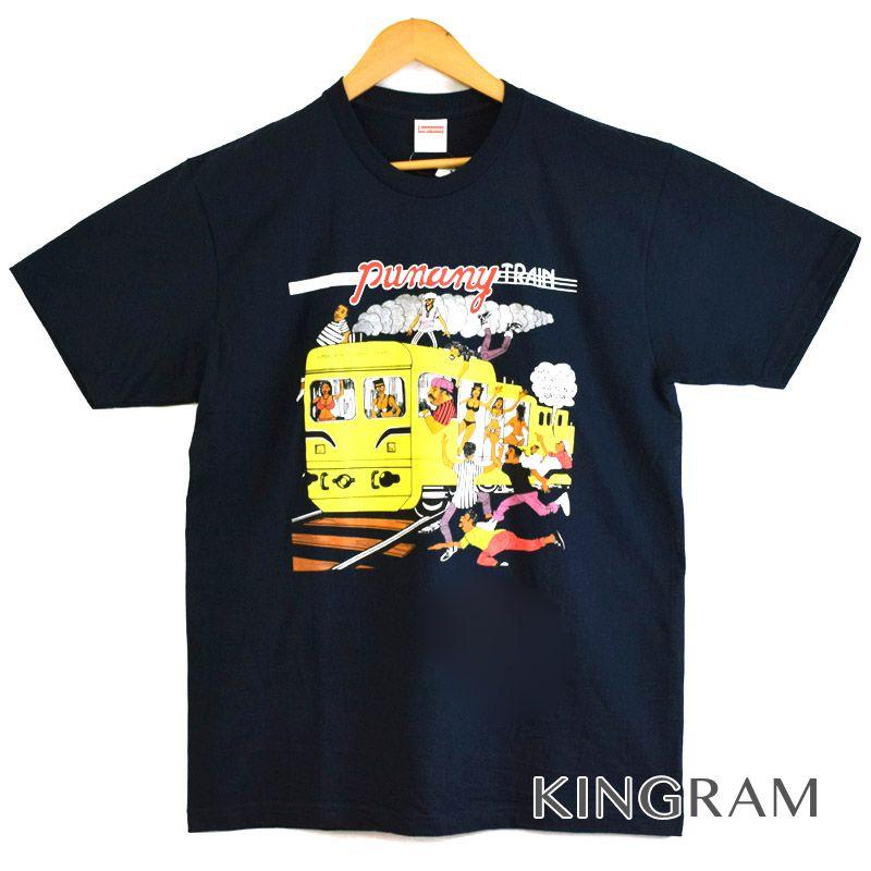 シュプリーム Supreme Tシャツ 17SS LIMONIOUS PUNANY TRAIN Tee サイズL 未使用 半タグ付 ブラック コットン100% メンズトップス rtk 【中古】