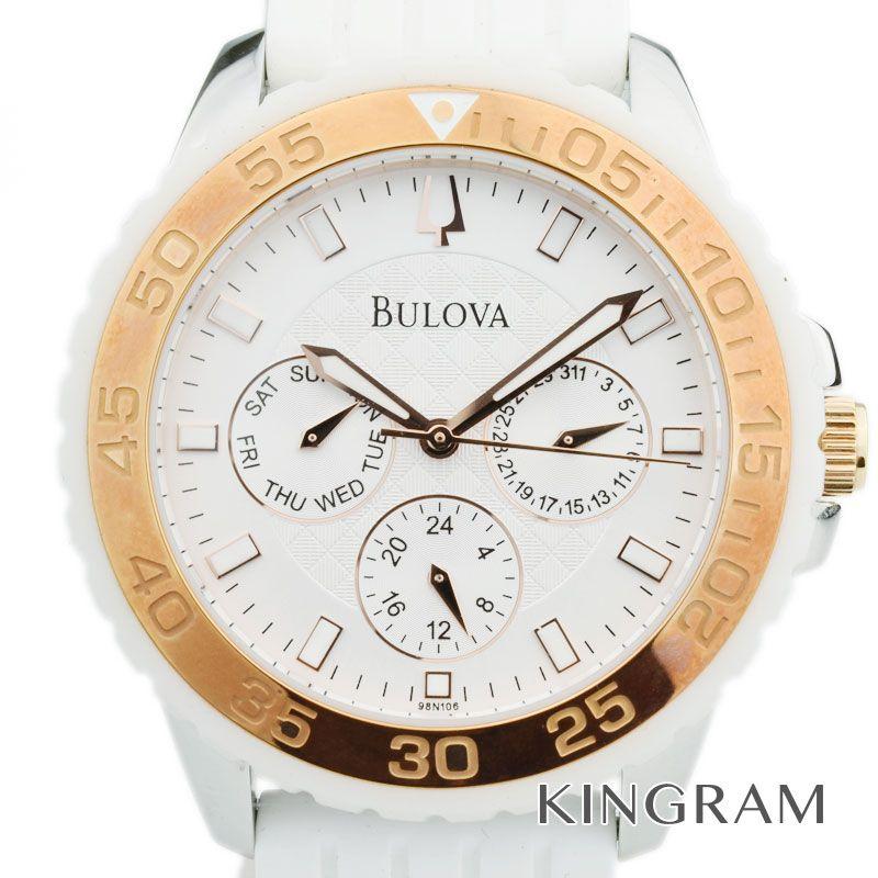 【最大3万円オフクーポン配布中!】ブローバ BULOVA クロノグラフ クォーツ メンズ 腕時計 ks 【中古】