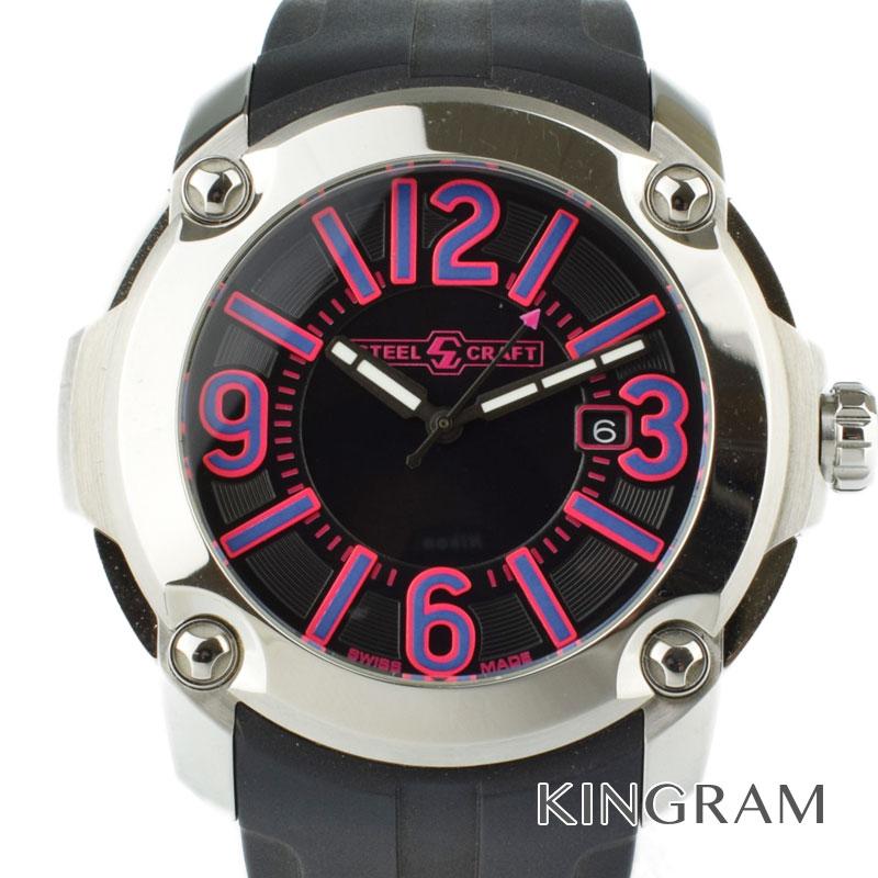 スティールクラフト STEEL CRAFT SC レーシング クォーツ メンズ 腕時計 ny【中古】