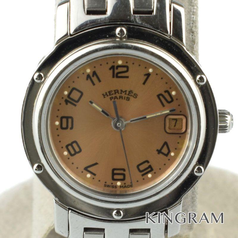 エルメス HERMES クリッパー Ref.CL4.210 クォーツ レディース 腕時計 ny 【中古】