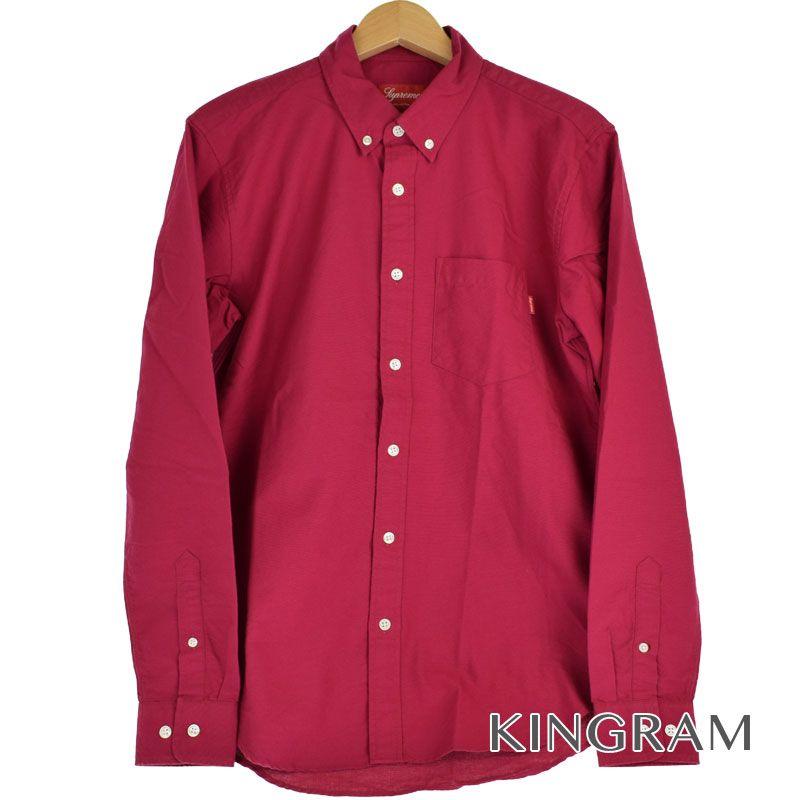シュプリーム Supreme 長袖シャツ OXOXFORD オックスフォード サイズS 半タグ付 ピンク系 コットン100% メンズ シャツ rtk 【中古】