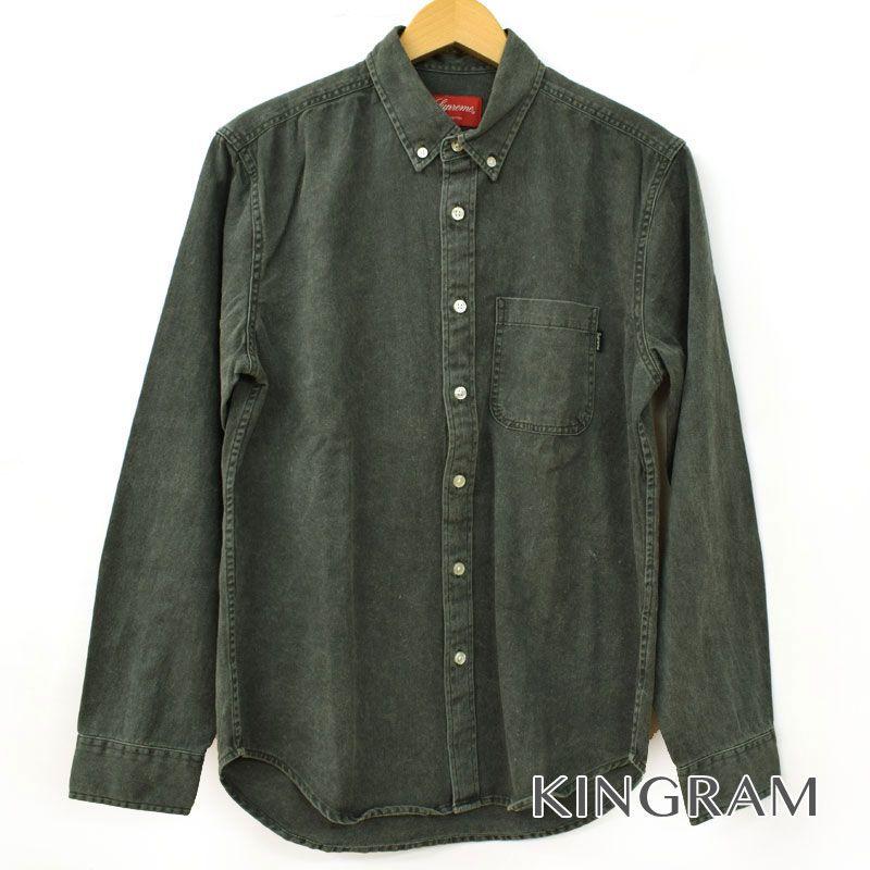 シュプリーム Supreme 長袖シャツ BD デニムシャツ サイズS ポケット付 半タグ付 グレー コットン100% メンズ シャツ rtk 【中古】