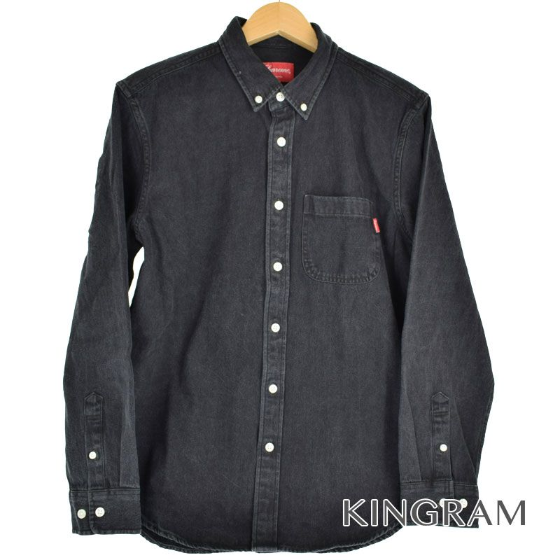 シュプリーム Supreme 長袖シャツ BD デニムシャツ サイズS ポケット付 半タグ付 ブラック コットン100% メンズ シャツ rtk 【中古】