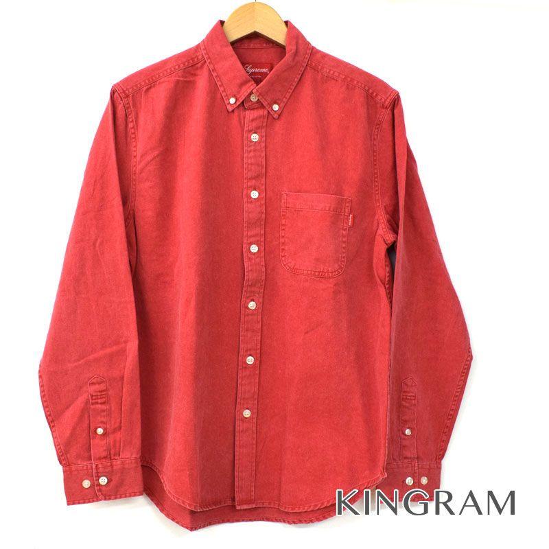 シュプリーム Supreme 長袖シャツ BD デニムシャツ サイズS ポケット付 半タグ付 レッド系 コットン100% メンズ シャツ rtk 【中古】