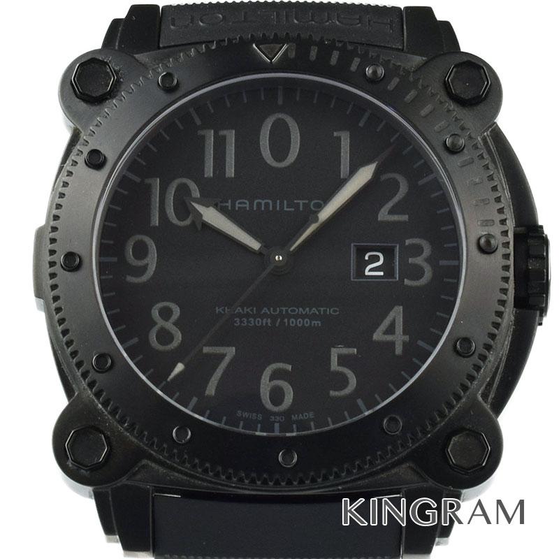 ハミルトン HAMILTON カーキ ネイビー ビロウゼロ Ref.H78585333 SS替えベルト付 自動巻 メンズ 腕時計 kw 【中古】