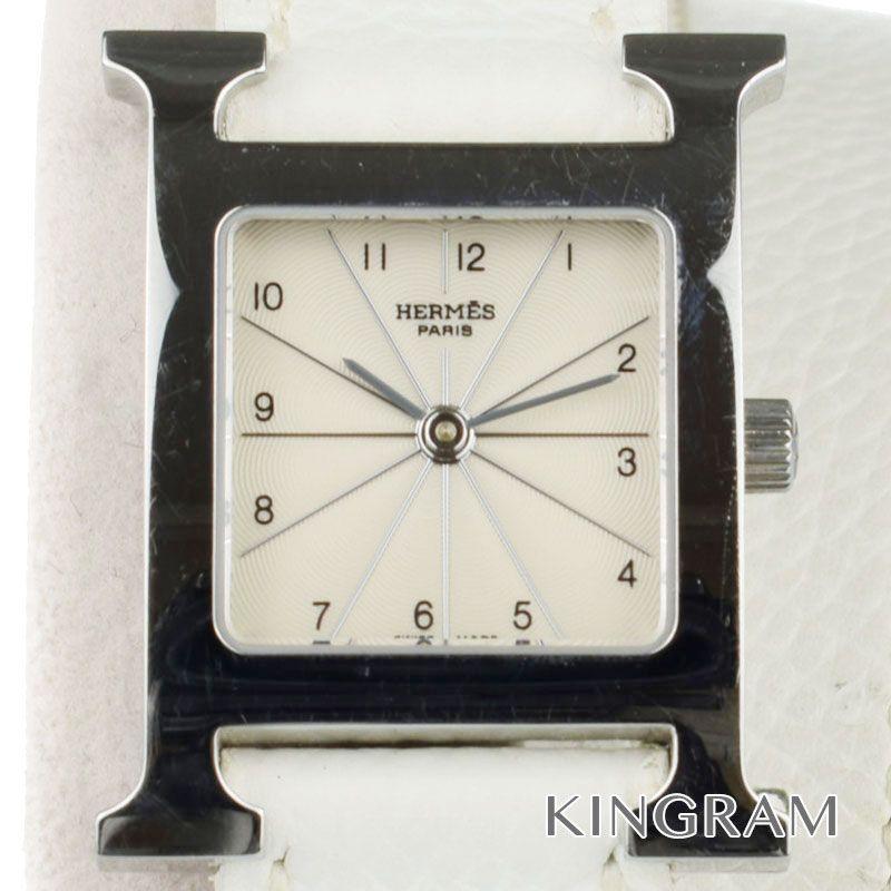 エルメス HERMES Hウォッチ Ref.HH1.210 ロングベルト クォーツ レディース 腕時計 rsn【中古】
