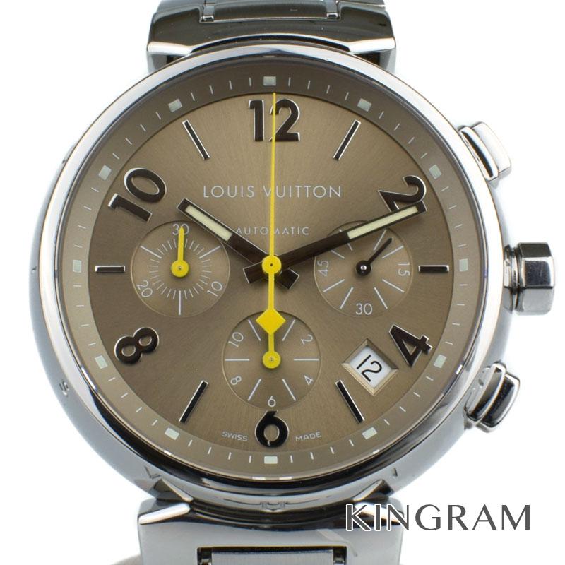 ルイ・ヴィトン LOUIS VUITTON タンブール クロノグラフ Ref.Q1122 自動巻 メンズ 腕時計 gi 【中古】